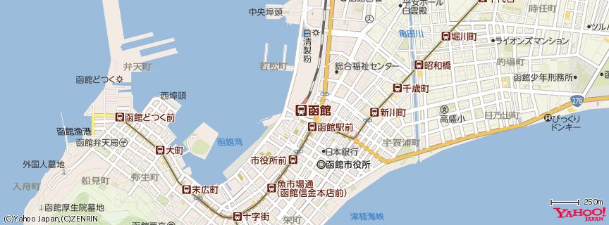 函館駅 地図