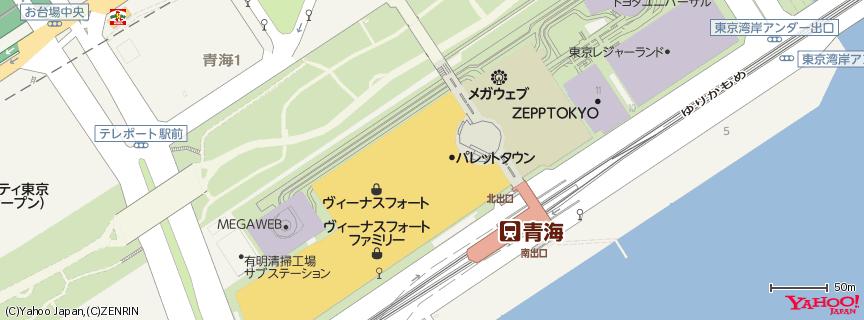 ヴィーナスフォート VenusFort 地図