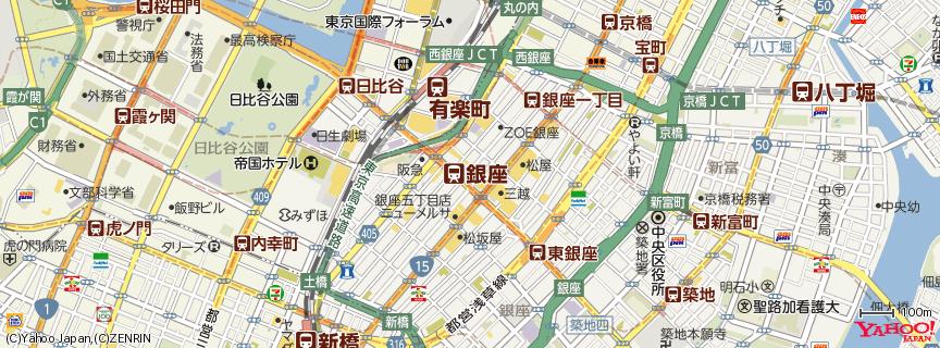 銀座駅 地図