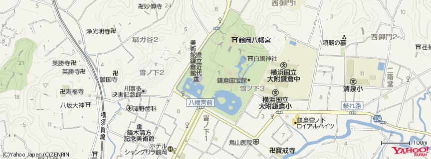 鶴岡八幡宮 Tsurugaoka Hachimangu Shrine 地図