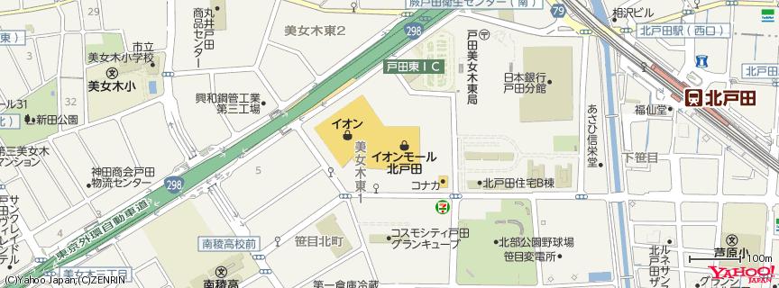 イオン北戸田ショッピングセンター 地図