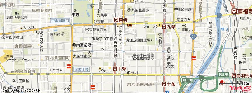 京都駅(Kyoto Station) 地図