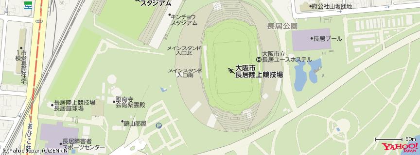 長居スタジアム 地図
