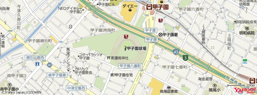 阪神甲子園球場 地図