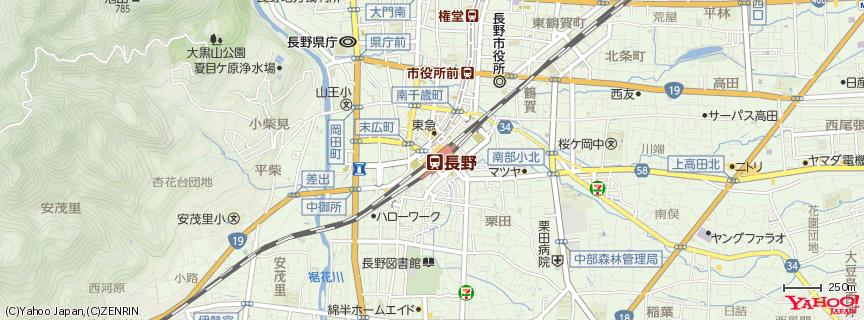 長野駅 地図
