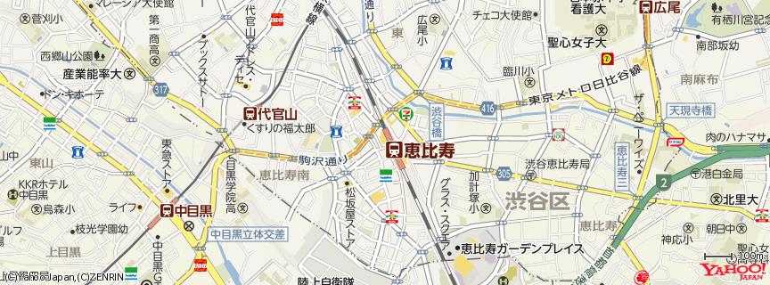 恵比寿駅 地図