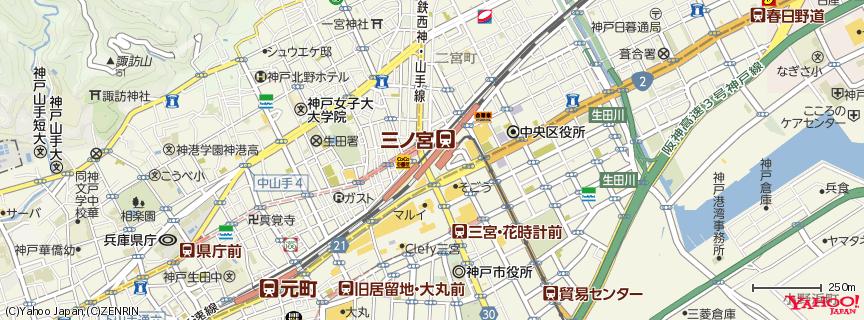 三宮駅 地図