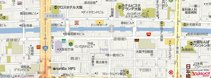 金龍ラーメン 道頓堀店 地図