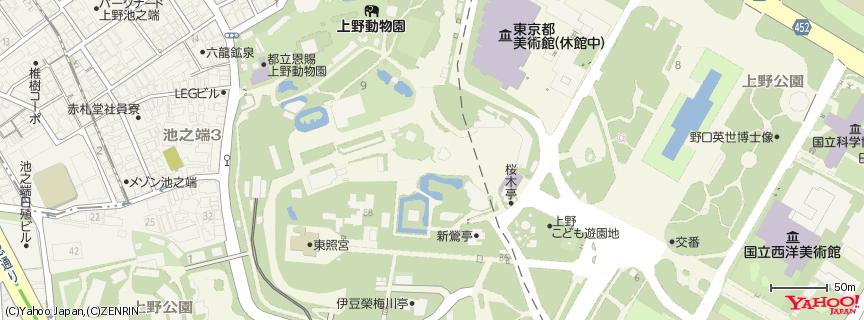上野動物園 Ueno zoo 地図