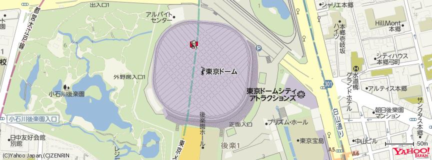 東京ドーム 地図
