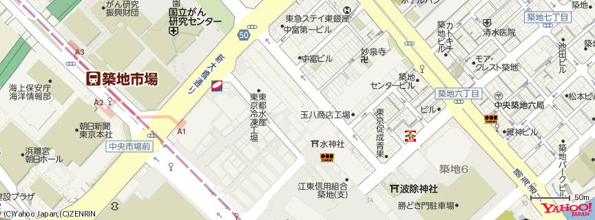 築地魚市場 - Tsukiji Fish Market 地図