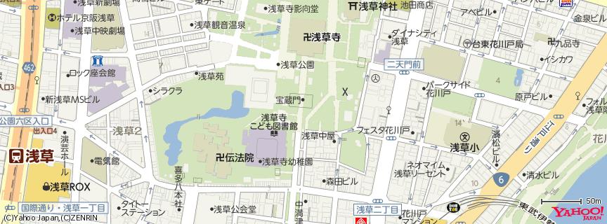 浅草寺 Senso-ji Temple 地図