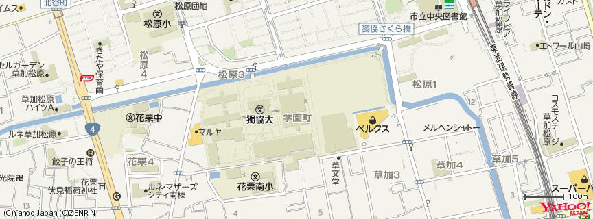 獨協大学 地図