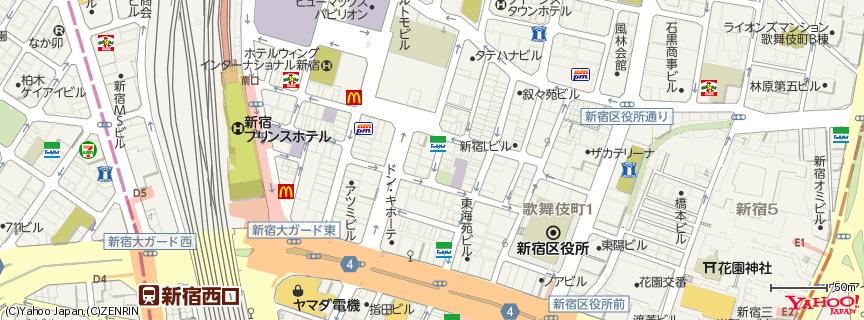 歌舞伎町 地図