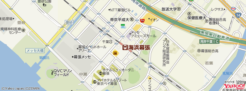 海浜幕張駅 (Kaihin Makuhari station) 地図