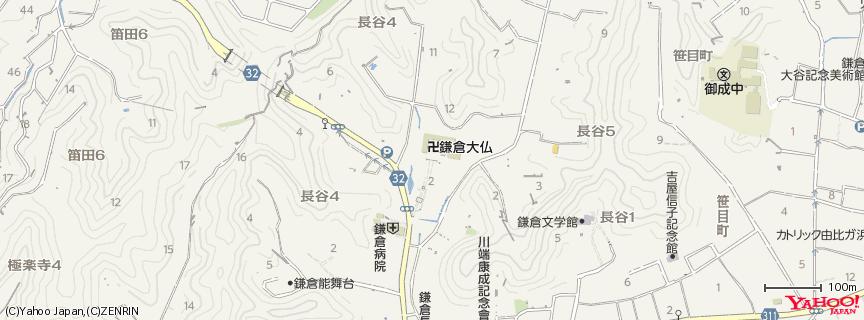 鎌倉大仏殿高徳院 (Kamakura Daibutsu) 地図