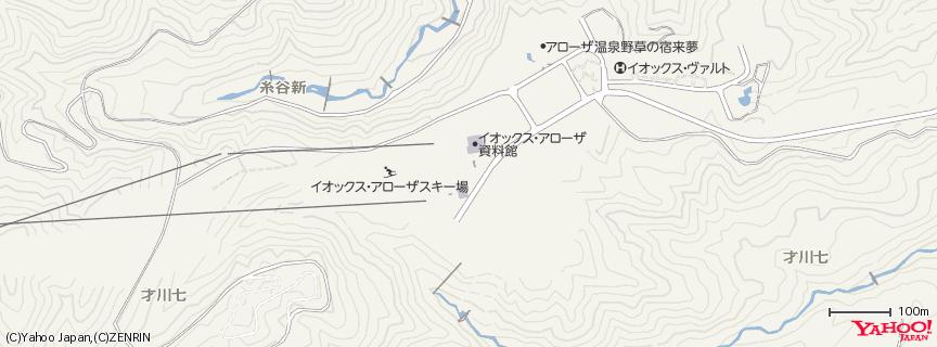 イオックスアローザスキー場 地図