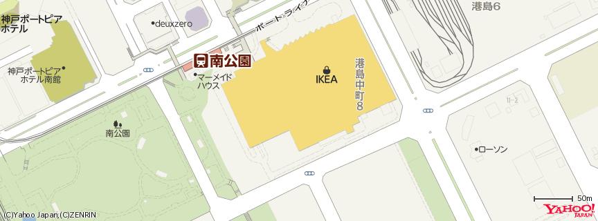 IKEA 神戸 地図