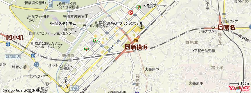 新横浜駅 Shin-Yokohama Station 地図