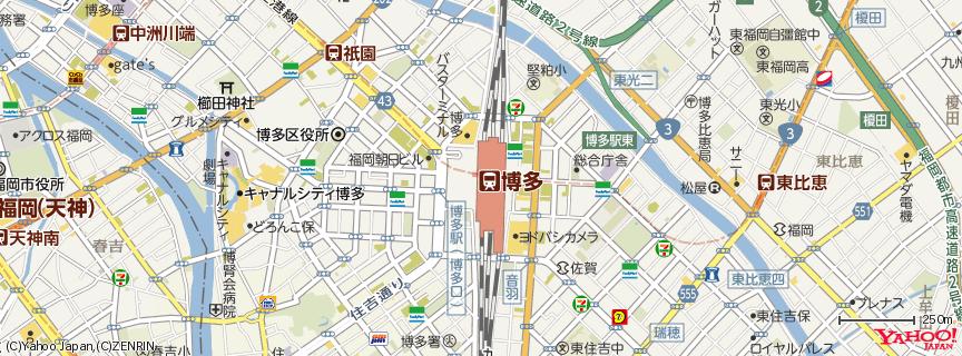 博多駅 - Hakata Station 地図