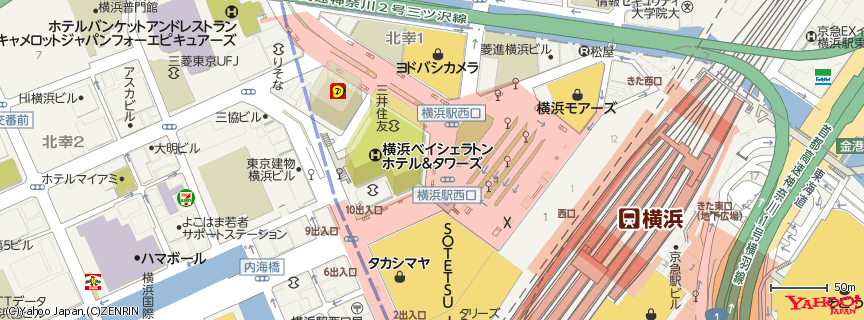 横浜ベイシェラトン ホテル&タワーズ(公式)  Yokohama Bay Sheraton Hotel & Towers(official) 地図