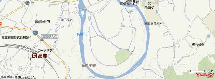 巾着田(きんちゃくだ) 地図