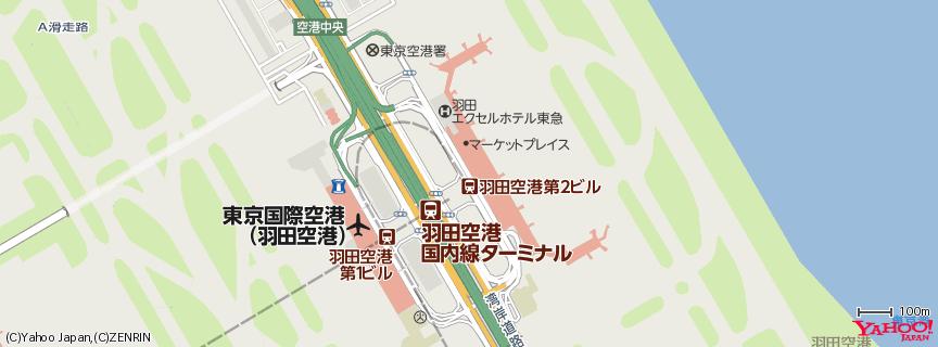 羽田空港 第2旅客ターミナル/Haneda Airport Terminal 2 地図