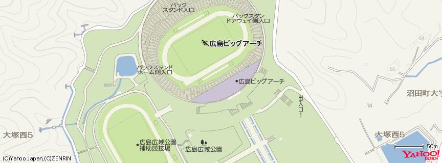 広島ビッグアーチ Hiroshima Big Arch 地図