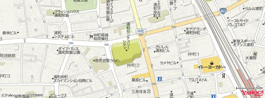 浦和ロイヤルパインズホテル 地図