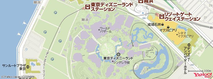 東京ディズニーランド (Tokyo Disneyland) 地図