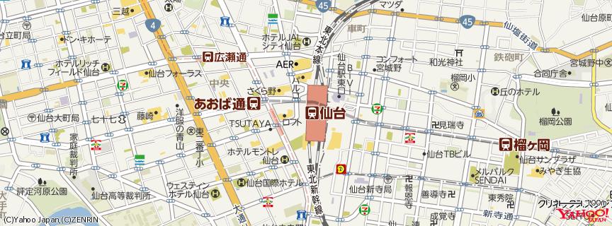 仙台駅 / Sendai Station 地図