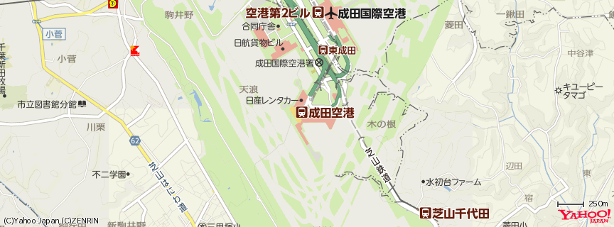 成田国際空港 Narita International Airport 地図