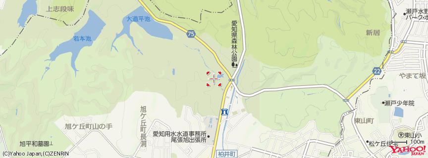 愛知県森林公園 地図