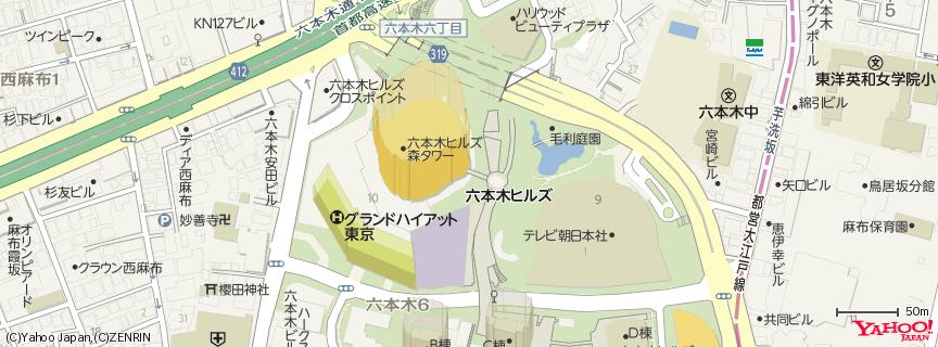 TOHOシネマズ六本木ヒルズ 地図