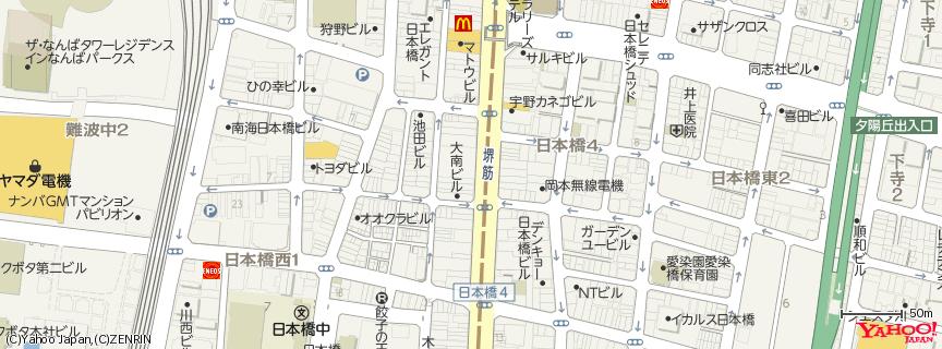 四天王日本橋でんでんタウン店 地図