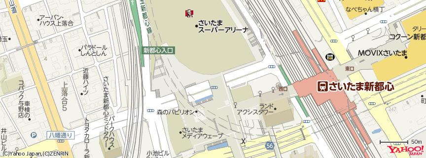 さいたまスーパーアリーナ Saitama Super Arena 地図