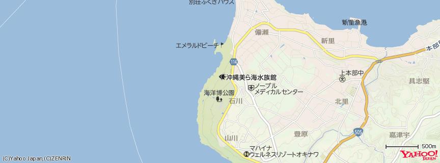 沖縄美ら海水族館 地図