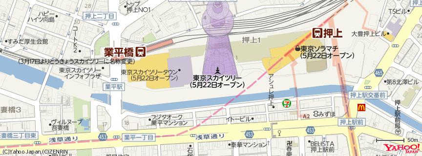 東京スカイツリー / Tokyo Skytree 地図