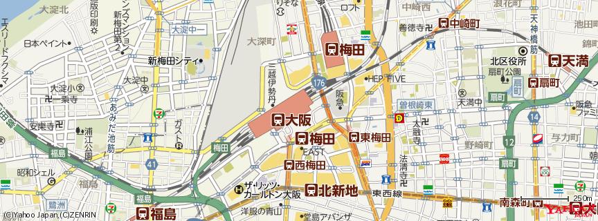 大阪駅(Osaka Station) 地図
