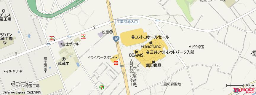 コストコ入間店 地図