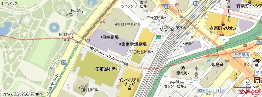 東京宝塚劇場 地図
