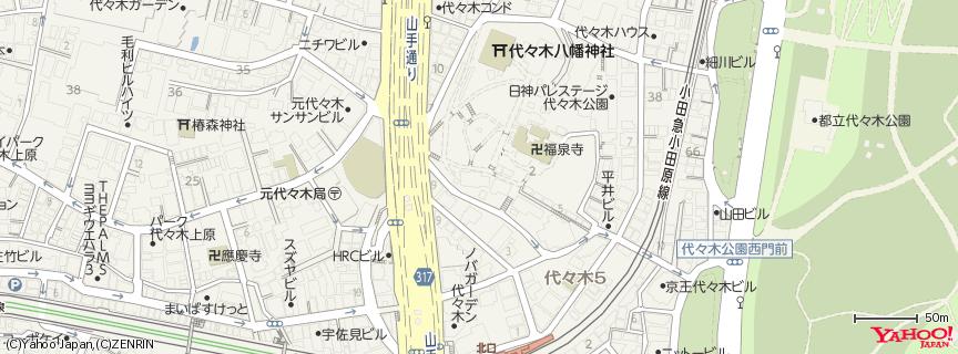 代々木八幡宮 地図