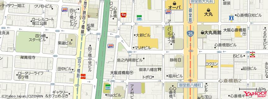 アメリカ村 (America mura) 地図