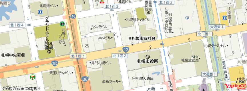 札幌時計台 地図