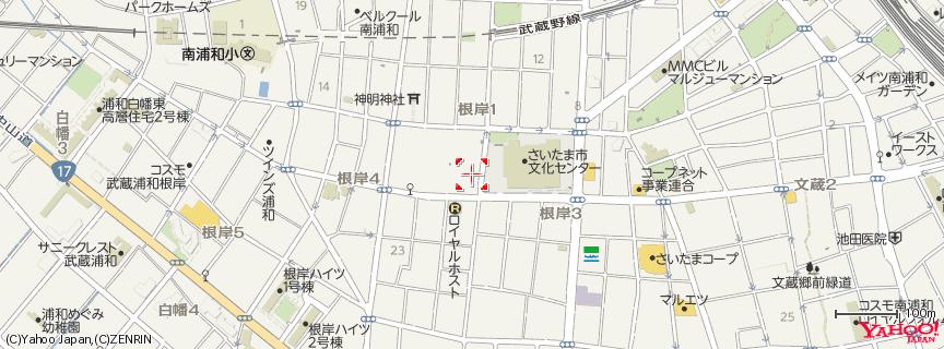 さいたま市文化センター 地図