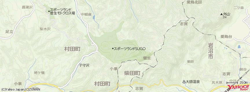 スポーツランドSUGO 地図
