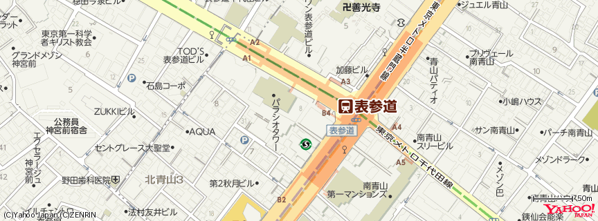 表参道 地図