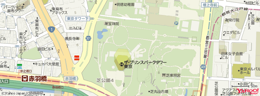 ザ・プリンス パークタワー東京 地図