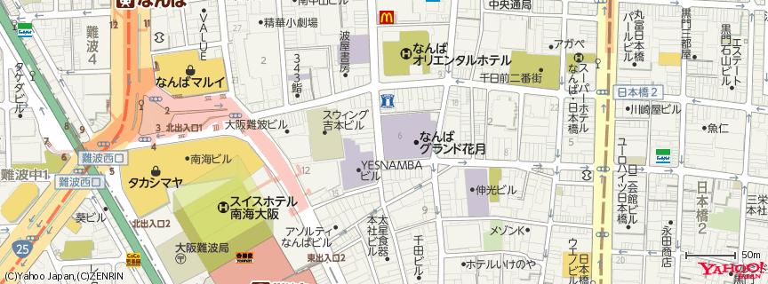 なんばグランド花月 (NGK) 地図