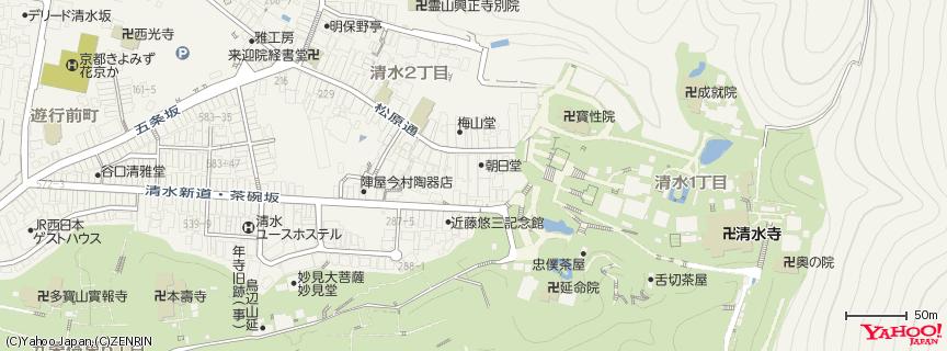 清水寺 (Kiyomizu Temple) 地図